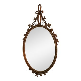 French Guilt Oval Mirror
