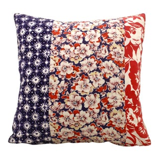 Vintage Floral Patchwork Pillow