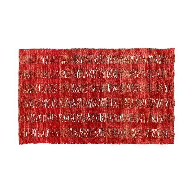 Image of Banana Fiber & Cotton Yarn Red Placemat