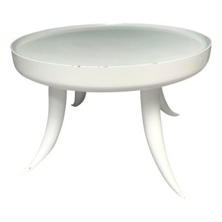 White Jonathan Adler Lacquer Tusk Table