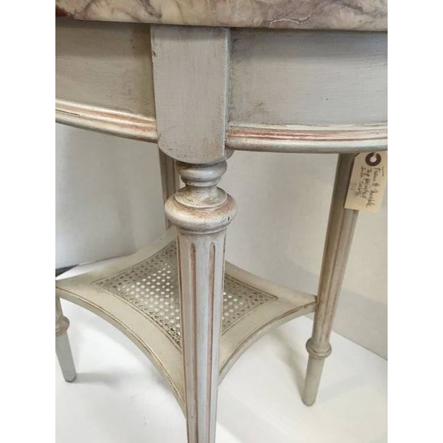Image of French Marble Top Side Table