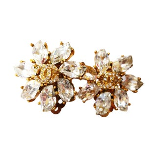 Authentic Vintage Chanel CC Sparkling Camellia Cli