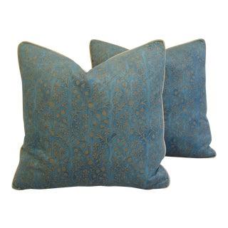 Italian Mariano Fortuny Granada Pillows - A Pair