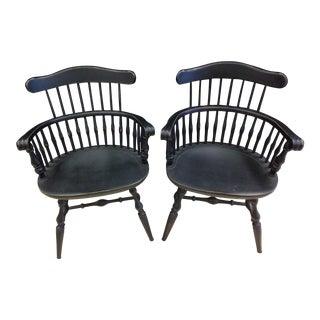 Vintage Nichols & Stone Windsor Armchairs - Pair