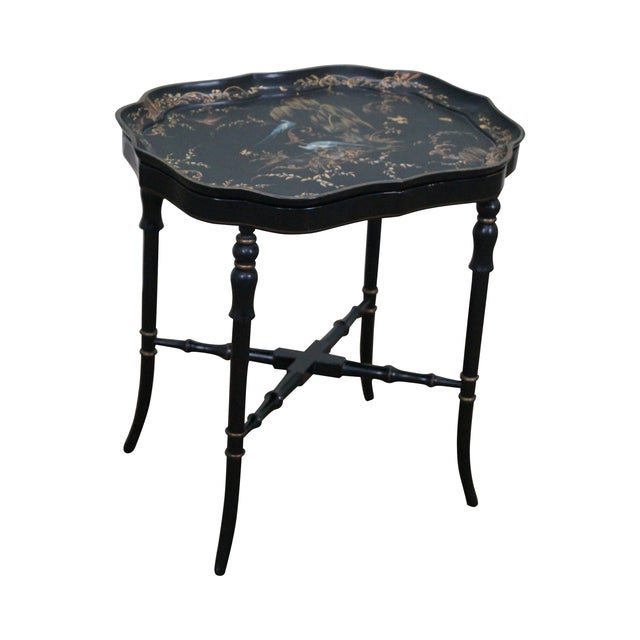 Jennens & Bettridge Hand Painted Tray Top Table - Image 1 of 10