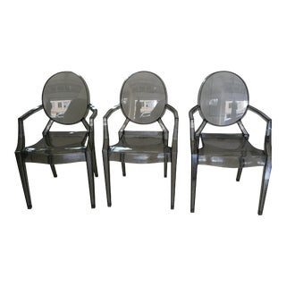 Philippe Starck Style Louis Ghost Armchairs - Set of 3
