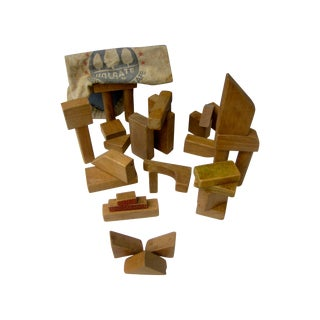 Holgate Old Wooden Blocks with Original Toy Bag