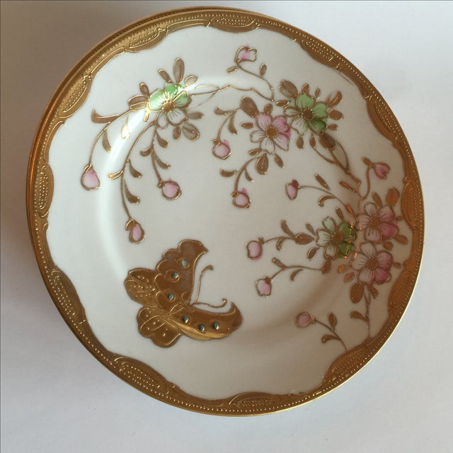 Mid-Century Asian Butterfly Plates - Set of 4 - Image 3 of 10