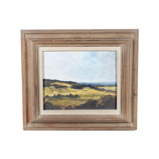L. Smidt Hilltop View Impressionist Oil Painting
