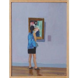 Woman Viewing A Renoir by Anne Carrozza Remick