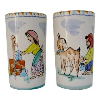 Italian Ceramic Tumblers - a Pair