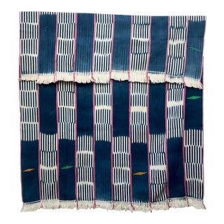 Blue & Pink African Baule Cloth