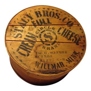 Almost Antique Deep Wood Cheese Box From the Stacy Bros. Co.