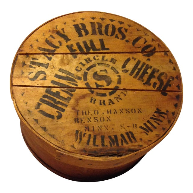 Old Wood Cheese Box From the Stacy Bros. Co. - Image 1 of 5
