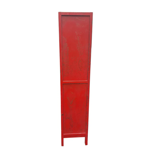 Red Chinese Extra Tall Dresser - Image 4 of 8