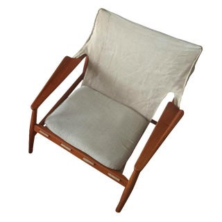 Hans Olsen Danish Modern Sling Back Lounge Chair