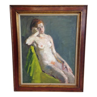 Painting of Nude With Green Eyes