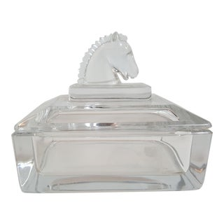 Mid-Century Modern Glass Cigarette Box