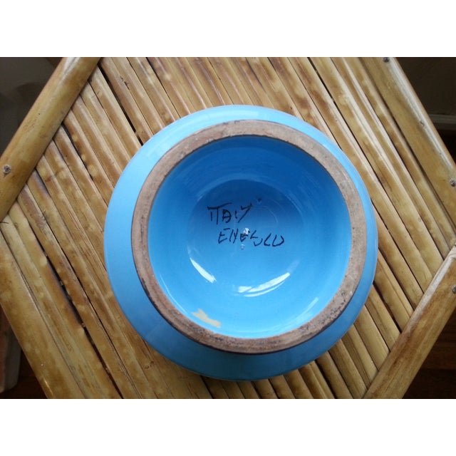 Vintage Italian Blue & Gold Footed Bowl - Image 5 of 8