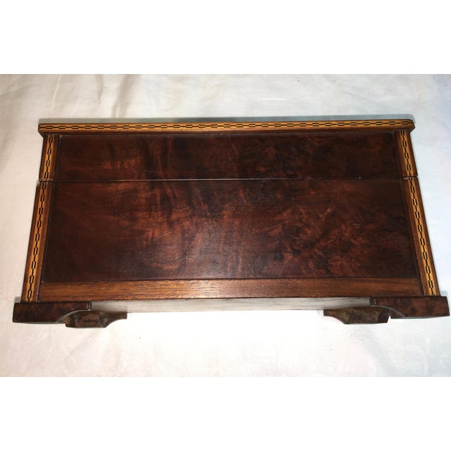 Vintage Burl Oak Gentleman's Trinket Box - Image 6 of 6