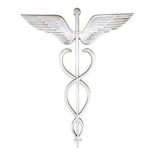 Cast Aluminum Medical Caduceus Exterior Trade Sign