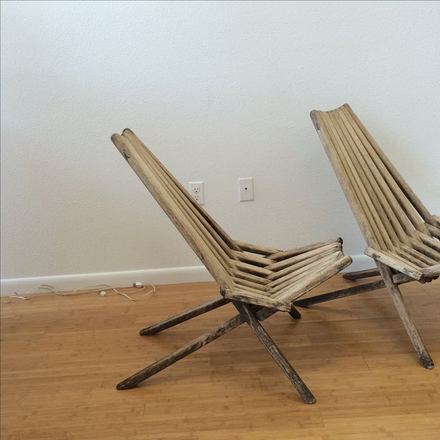 Image of Danish Modern Clam Chairs - A Pair