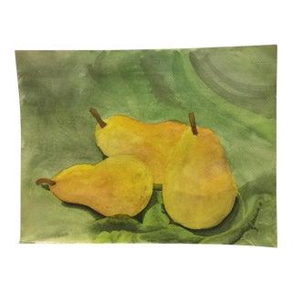 3 Pears Original Watercolor Painting