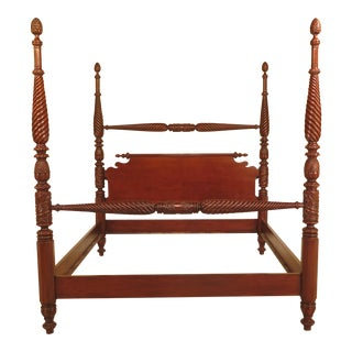 King Size Plantation Mahogany Poster Bed