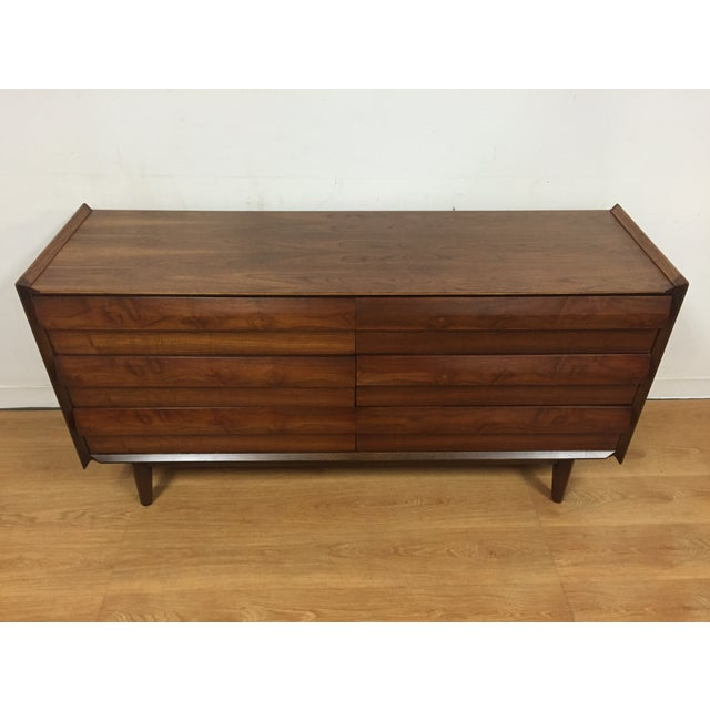 Image of Lane Sculpted Walnut Dresser