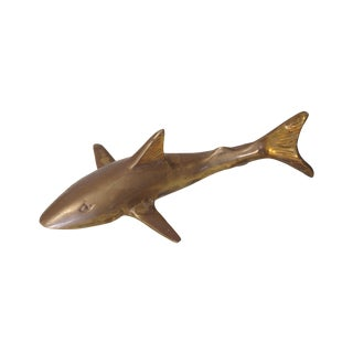 Vintage Brass Shark