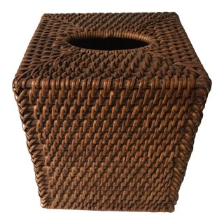 Rattan Woven Tissue Box Cover