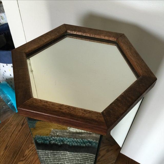 Mid-Century Modern Mirror and Wood Podium - Image 3 of 3