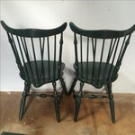Image of Windsor Lacquer Side Chairs - A Pair