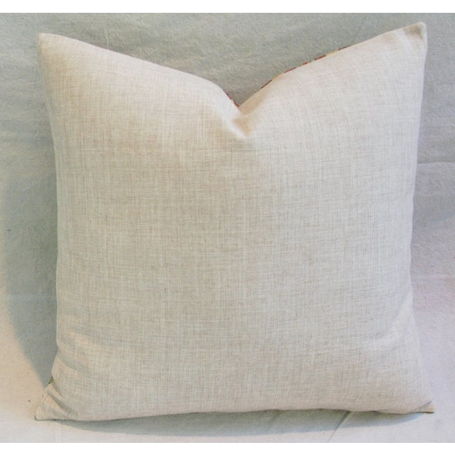 Imperial Scrolling Floral Lotus Linen Pillow - Image 5 of 5