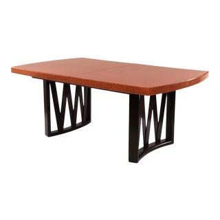 Paul Frankl Cork & Mahogany Dining Table