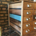 Image of 15 Drawer Card Catalog on Hairpin Legs