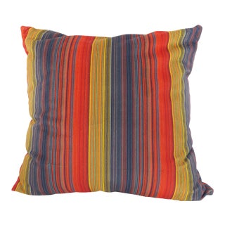 Custom Pin-Striped Multi-Colored Pillow