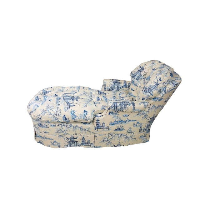 Chintz Chinoiserie Upholstered Lounge Chair - Image 3 of 5