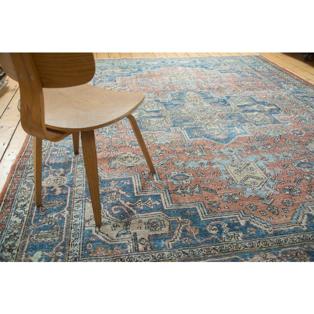 "Mid-Century Distressed Oushak Rug - 8'2"" X 10' - Image 9 of 10"