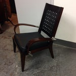 Image of Modern Bentwood Accent Armchair