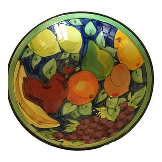 Large Italian Hand Painted Ceramic Bowl