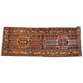 1930s Hand Made Persian Heriz Runner - 3.4' X 13.6'