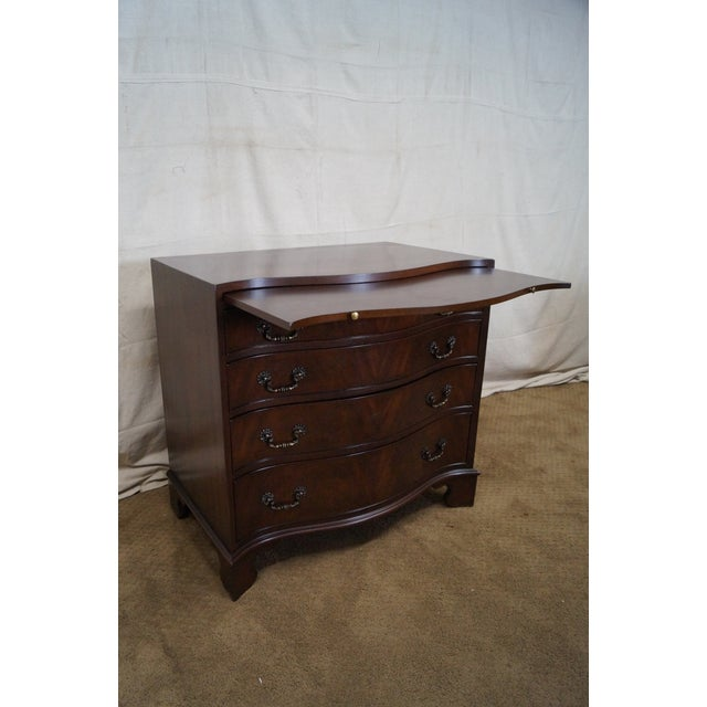Flame Mahogany Serpentine Chippendale Style Chests of Drawers - A Pair - Image 8 of 10