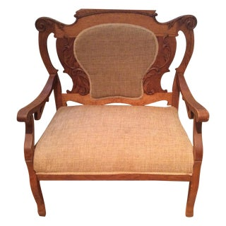 Antique Victorian Oak Chair
