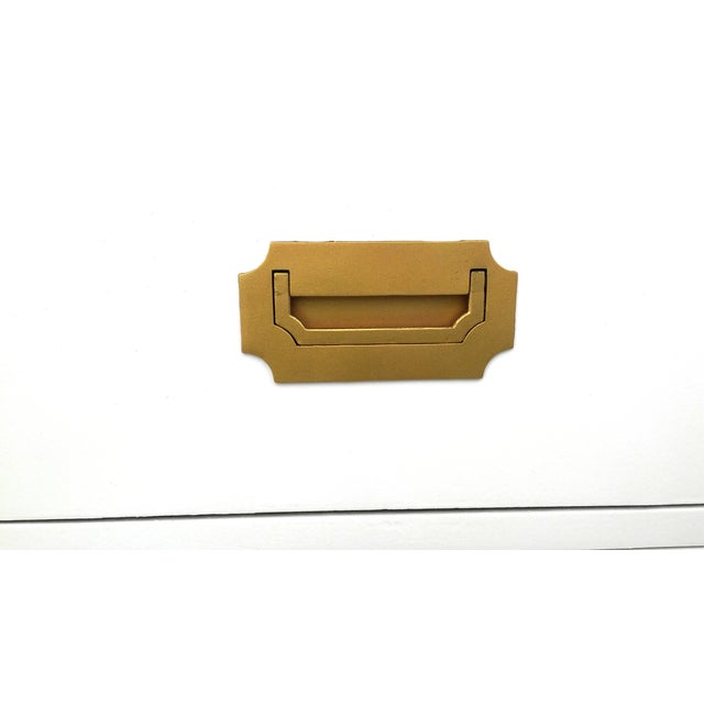 Lacquered Vintage Dixie Campaign Dresser - Image 6 of 8