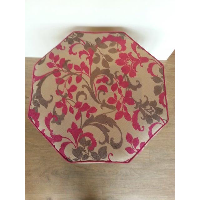 Image of Hollywood Regency Upholstered Ottoman