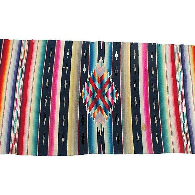 Vintage Southwest Chimayo Rug Weavin - 1′5″ × 3′3″ - Image 2 of 2