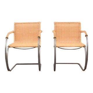 "Pair of Mies van der Rohe ""MR20"" Chairs"