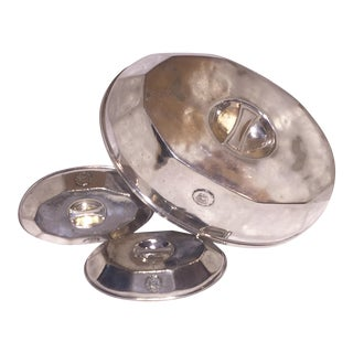 Olympic Hotel Silver Cloches - Set of 3