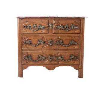 French Parisian 18th Century Marble Top Commode